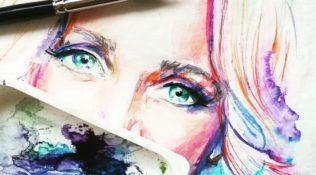Szkice Katarzyny Rott Silverclock na płytę POGODA NA DOM
